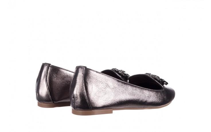 Baleriny bayla-161 093 388 4024 platinum 20, nikiel, skóra naturalna  - skórzane - baleriny - buty damskie - kobieta 3