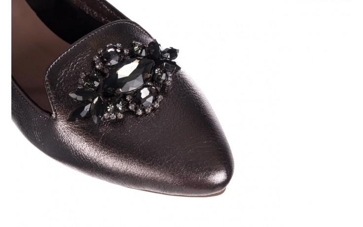 Baleriny bayla-161 093 388 4024 platinum 20, nikiel, skóra naturalna  - skórzane - baleriny - buty damskie - kobieta 5