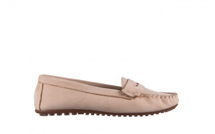 Mokasyny bayla-161 093 388 6004 beż, skóra naturalna  - półbuty - buty damskie - kobieta