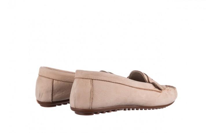 Mokasyny bayla-161 093 388 6004 beż, skóra naturalna  - półbuty - buty damskie - kobieta 3