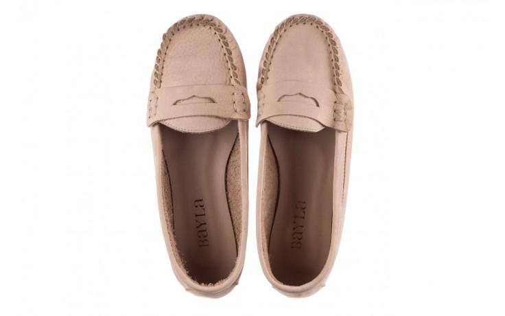Mokasyny bayla-161 093 388 6004 beż, skóra naturalna  - półbuty - buty damskie - kobieta 4