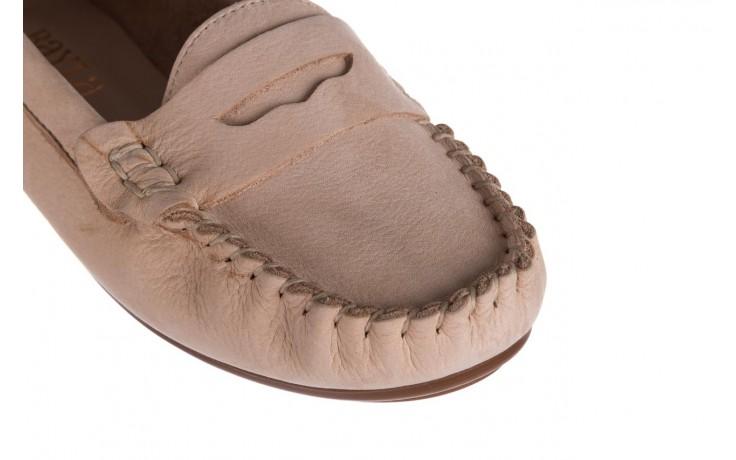 Mokasyny bayla-161 093 388 6004 beż, skóra naturalna  - półbuty - buty damskie - kobieta 5
