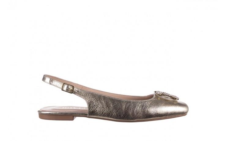 Sandały bayla-161 093 388 4054 złoty, skóra naturalna