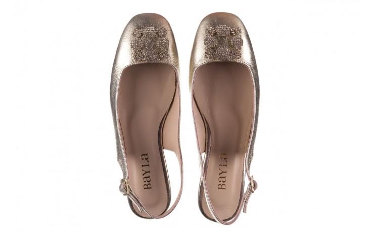 Sandały bayla-161 093 388 4054 gold 20, złoty, skóra naturalna  - sandały - buty damskie - kobieta 4
