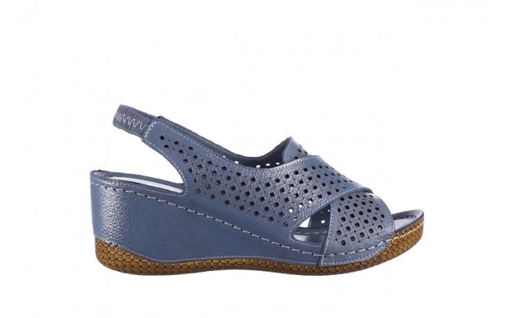 Sandały bayla-161 054 3010 niebieski, skóra naturalna  - bayla - nasze marki
