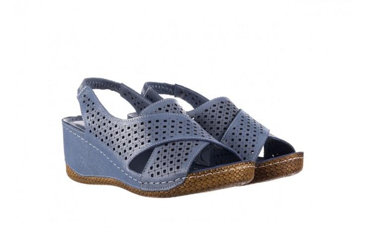 Sandały bayla-161 054 3010 niebieski, skóra naturalna  - bayla - nasze marki 1