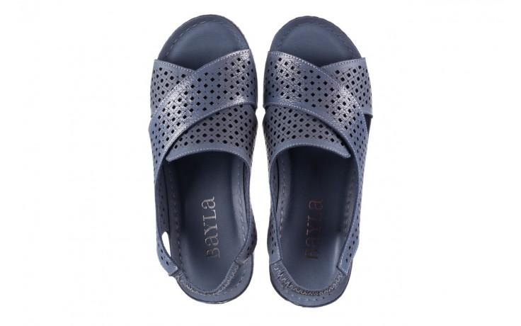 Sandały bayla-161 054 3010 niebieski, skóra naturalna  - bayla - nasze marki 4