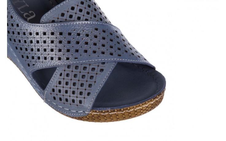 Sandały bayla-161 054 3010 niebieski, skóra naturalna  - bayla - nasze marki 5