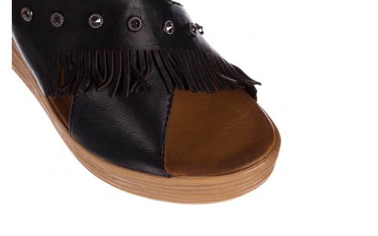 Koturny bayla-161 066 475 czarny, skóra naturalna  - koturny - buty damskie - kobieta 5