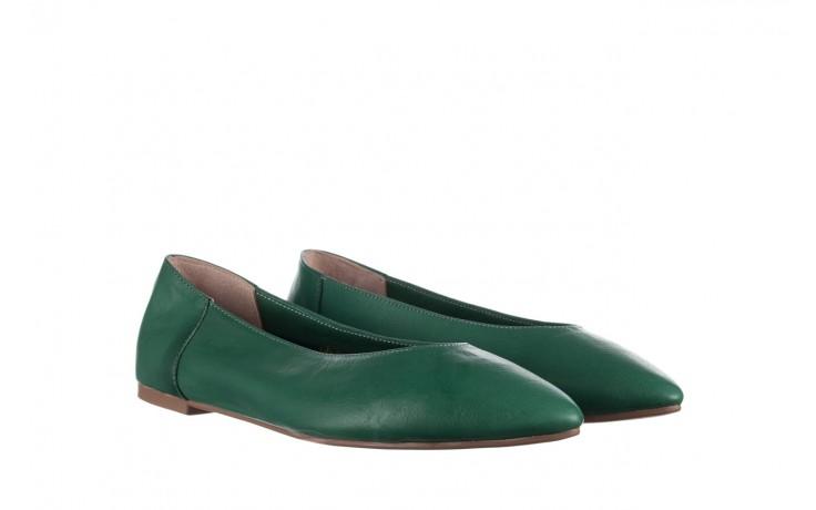 Baleriny bayla-161 093 388 4010 khaki, zielony, skóra naturalna  - bayla - nasze marki 1