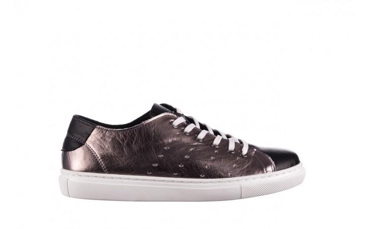 Trampki bayla-161 093 90135 platynowy czarny 161047, skóra naturalna  - trampki - buty damskie - kobieta