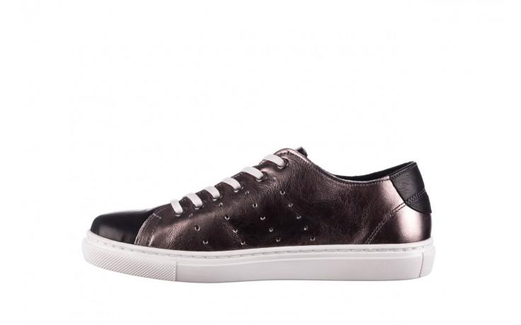 Trampki bayla-161 093 90135 platynowy czarny 161047, skóra naturalna  - trampki - buty damskie - kobieta 2