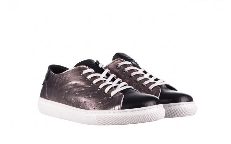 Trampki bayla-161 093 90135 platynowy czarny 161047, skóra naturalna  - trampki - buty damskie - kobieta 1
