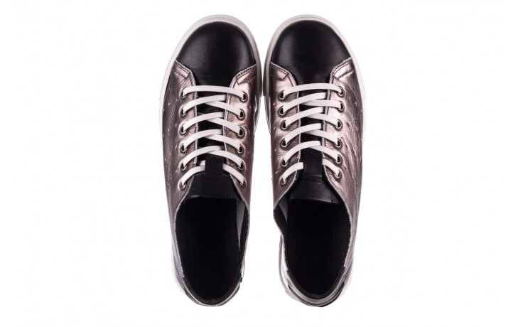 Trampki bayla-161 093 90135 platynowy czarny 161047, skóra naturalna  - trampki - buty damskie - kobieta 4