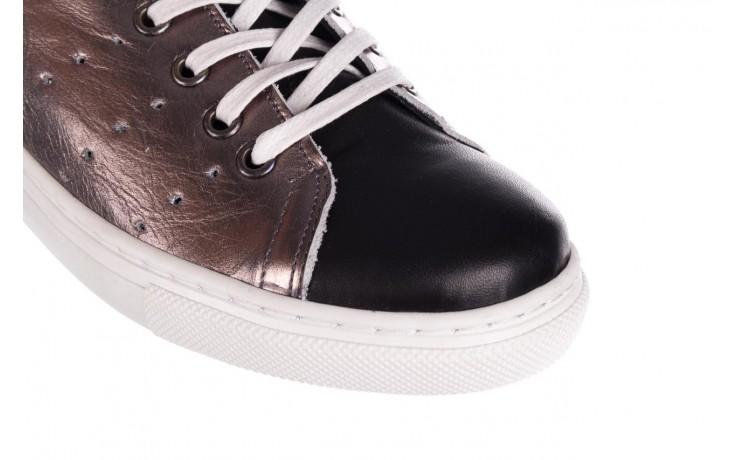 Trampki bayla-161 093 90135 platynowy czarny 161047, skóra naturalna  - trampki - buty damskie - kobieta 5