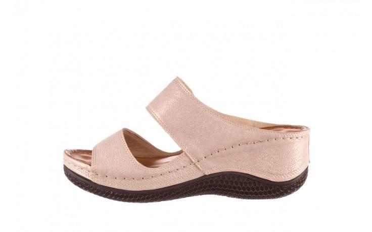 Klapki bayla-112 0001-428-bs43 beż, skóra naturalna  - na koturnie - klapki - buty damskie - kobieta 2