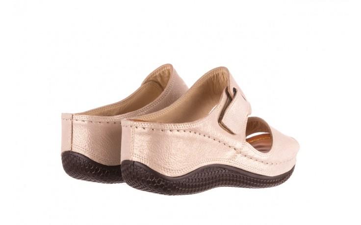 Klapki bayla-112 0001-428-bs43 beż, skóra naturalna  - na koturnie - klapki - buty damskie - kobieta 3