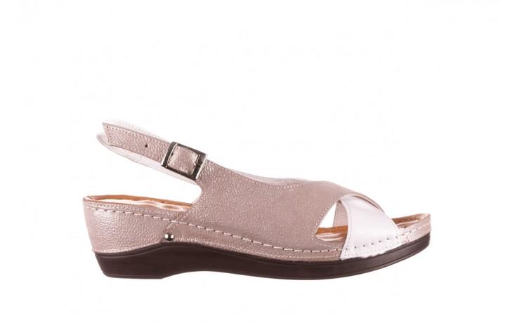 Sandały bayla-112 0158-58 biały szary, skóra naturalna  - bayla - nasze marki