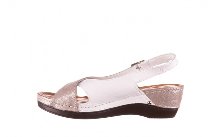 Sandały bayla-112 0158-58 biały szary, skóra naturalna  - bayla - nasze marki 2