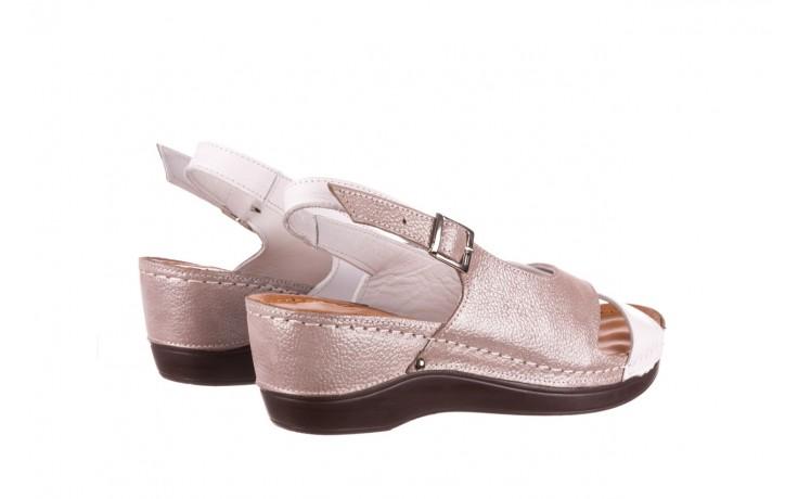 Sandały bayla-112 0158-58 biały szary, skóra naturalna  - bayla - nasze marki 3