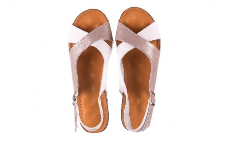 Sandały bayla-112 0158-58 biały szary, skóra naturalna  - bayla - nasze marki 4