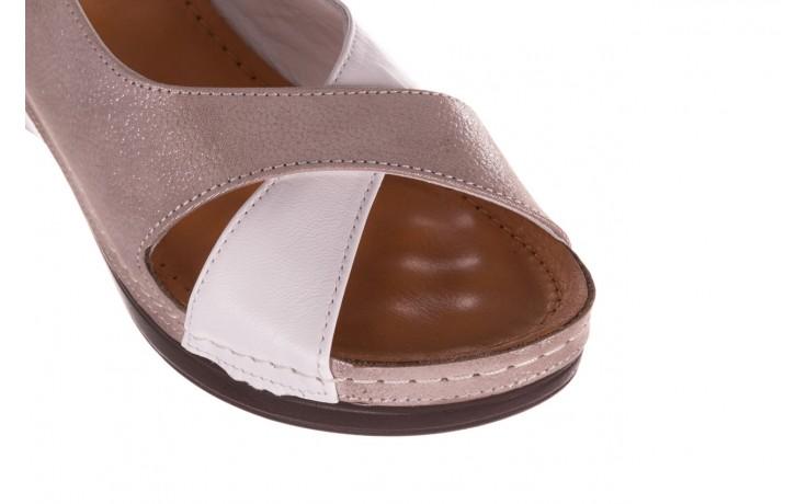 Sandały bayla-112 0158-58 biały szary, skóra naturalna  - bayla - nasze marki 5
