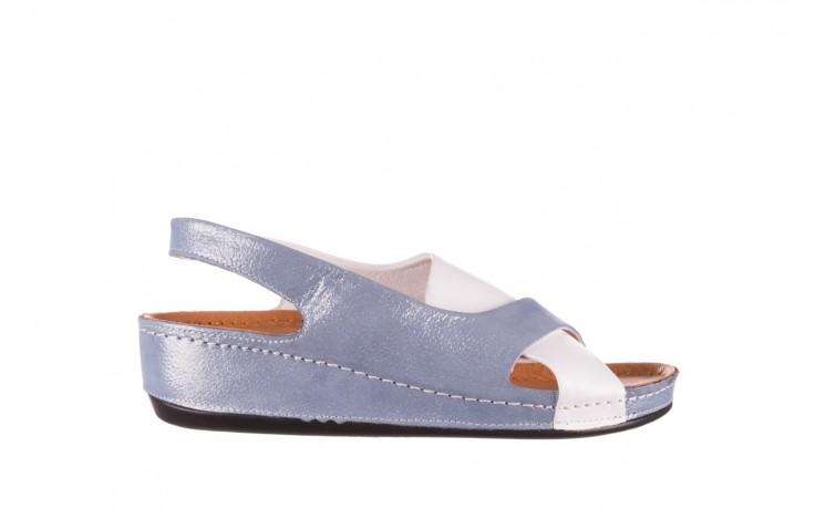 Sandały bayla-112 0158-30 biały niebieski, skóra naturalna  - bayla - nasze marki
