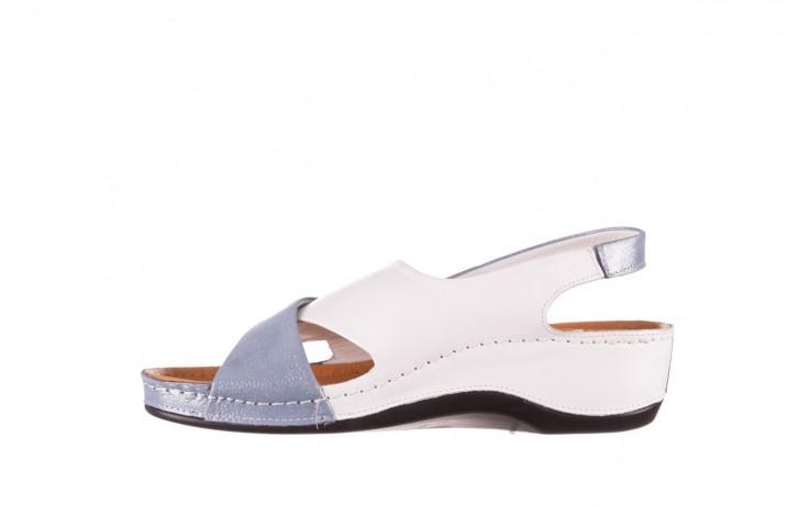 Sandały bayla-112 0158-30 biały niebieski, skóra naturalna  - bayla - nasze marki 2