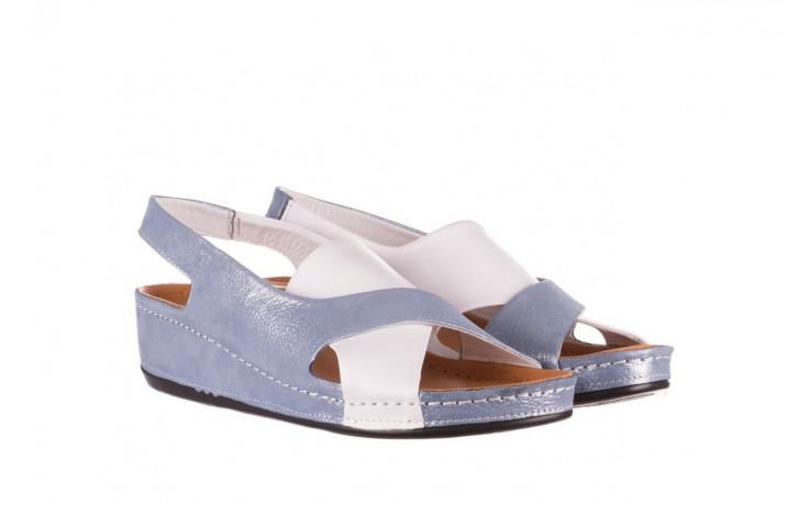Sandały bayla-112 0158-30 biały niebieski, skóra naturalna  - bayla - nasze marki 1