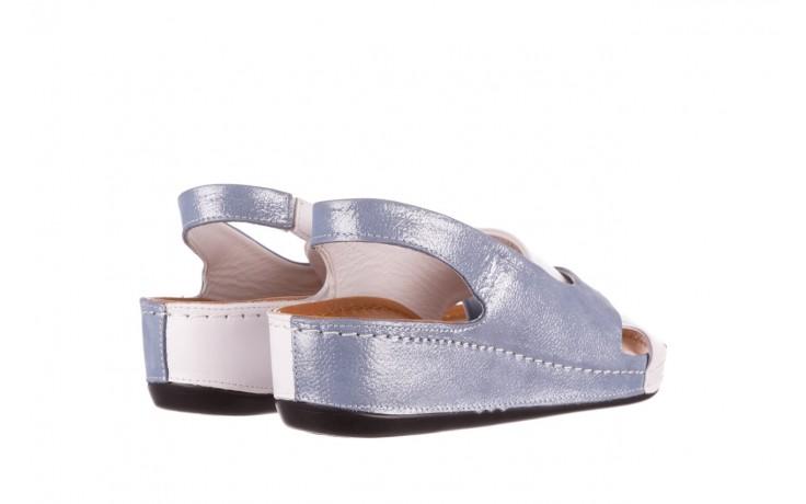 Sandały bayla-112 0158-30 biały niebieski, skóra naturalna  - bayla - nasze marki 3