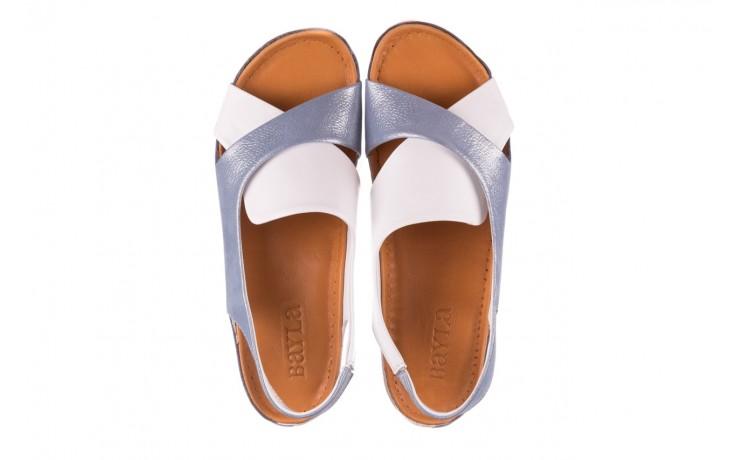 Sandały bayla-112 0158-30 biały niebieski, skóra naturalna  - bayla - nasze marki 4