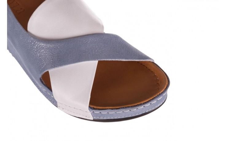 Sandały bayla-112 0158-30 biały niebieski, skóra naturalna  - bayla - nasze marki 5