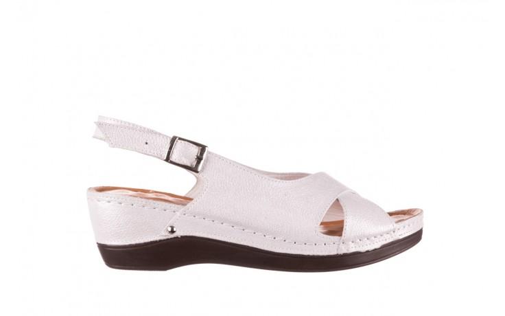 Sandały bayla-112 0158-58 biały, skóra naturalna  - na koturnie - sandały - buty damskie - kobieta