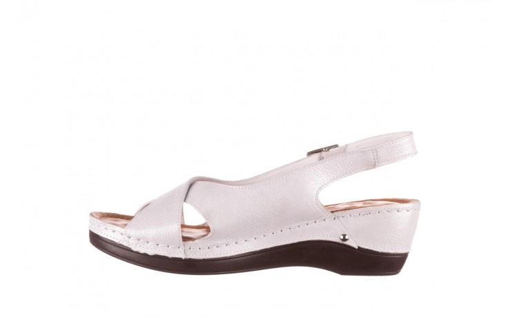 Sandały bayla-112 0158-58 biały, skóra naturalna  - na koturnie - sandały - buty damskie - kobieta 2