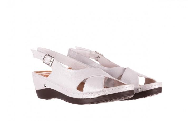 Sandały bayla-112 0158-58 biały, skóra naturalna  - na koturnie - sandały - buty damskie - kobieta 1