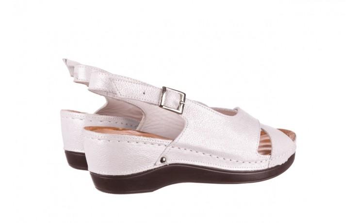 Sandały bayla-112 0158-58 biały, skóra naturalna  - na koturnie - sandały - buty damskie - kobieta 3