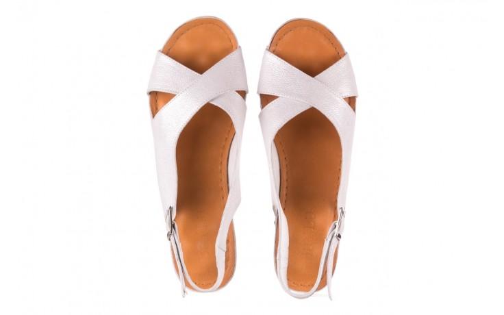 Sandały bayla-112 0158-58 biały, skóra naturalna  - na koturnie - sandały - buty damskie - kobieta 4