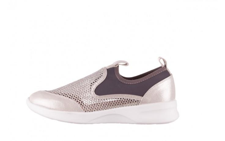 Sneakers bayla-112 0372-075 srebro, skóra naturalna/ materiał - sneakersy - buty damskie - kobieta 2