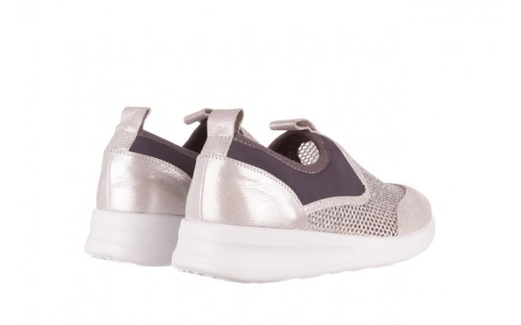 Sneakers bayla-112 0372-075 srebro, skóra naturalna/ materiał - sneakersy - buty damskie - kobieta 3