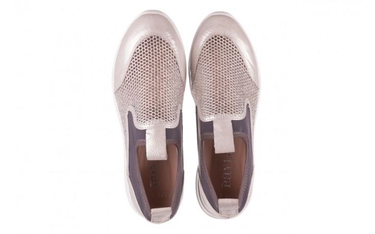 Sneakers bayla-112 0372-075 srebro, skóra naturalna/ materiał - sneakersy - buty damskie - kobieta 4