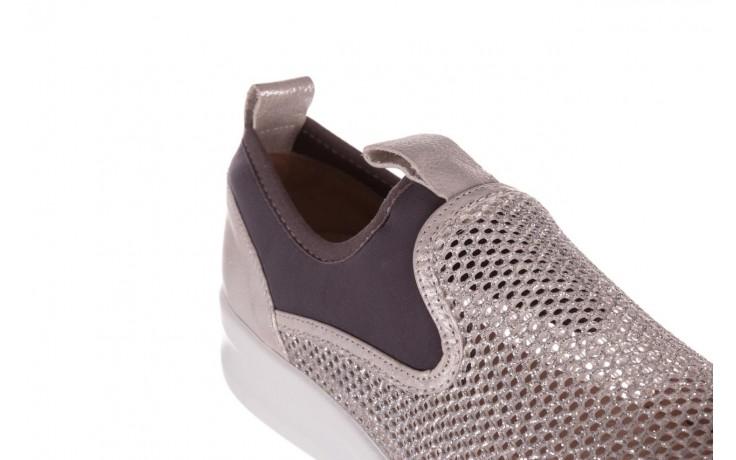 Sneakers bayla-112 0372-075 srebro, skóra naturalna/ materiał - sneakersy - buty damskie - kobieta 5