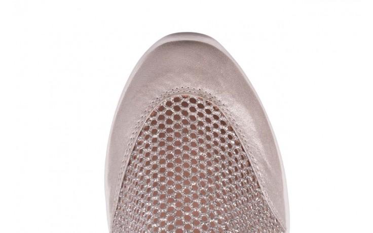 Sneakers bayla-112 0372-075 srebro, skóra naturalna/ materiał - sneakersy - buty damskie - kobieta 6