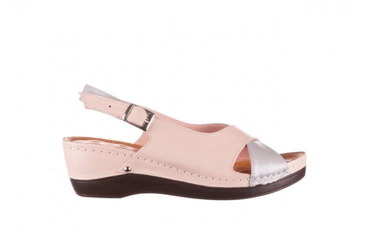 Sandały bayla-112 0158-58 róż szary, skóra naturalna  - bayla - nasze marki