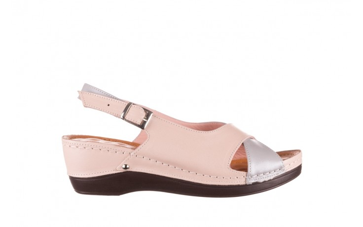 Sandały bayla-112 0158-58 róż szary, skóra naturalna