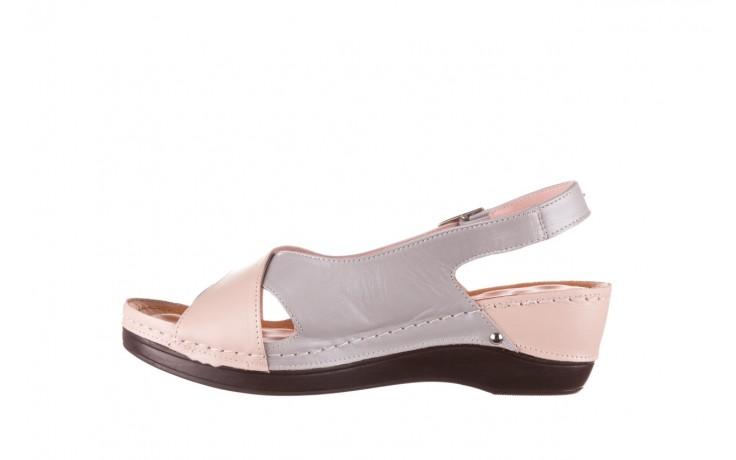 Sandały bayla-112 0158-58 róż szary, skóra naturalna 2