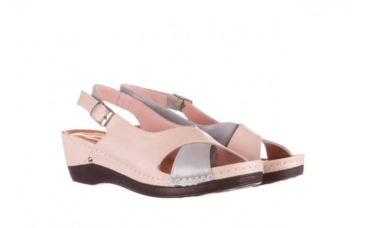 Sandały bayla-112 0158-58 róż szary, skóra naturalna 1