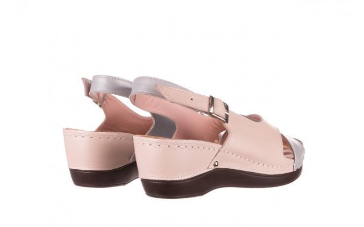 Sandały bayla-112 0158-58 róż szary, skóra naturalna 3