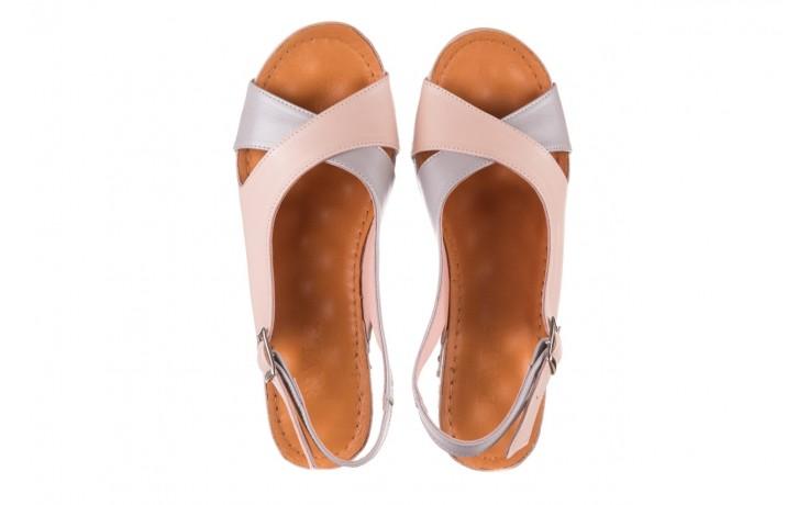 Sandały bayla-112 0158-58 róż szary, skóra naturalna 4