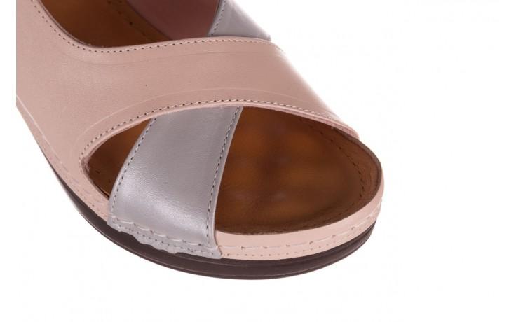 Sandały bayla-112 0158-58 róż szary, skóra naturalna 5