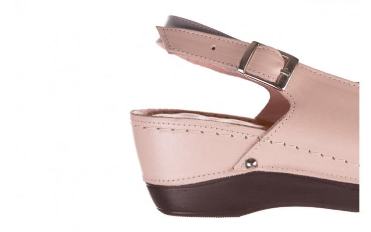 Sandały bayla-112 0158-58 róż szary, skóra naturalna 6